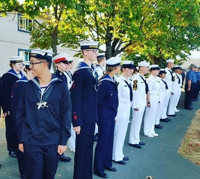 Naval Sea Cadets in lineup