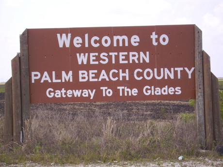 Western Palm Beach County sign