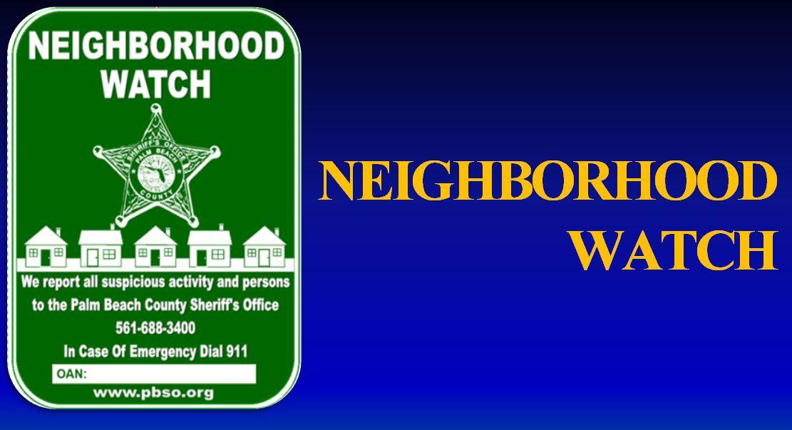 Neighborhood crime watch palm beach county sheriff 39 s office - Palm beach county property appraisers office ...