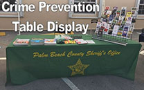 crime prevention table display 2
