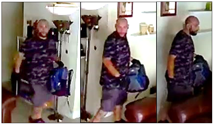 Suspect wanted for burglary to a residence - Boca Trails Community