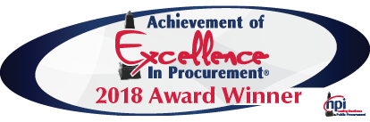 2018 Achievement of Excellence in Procurement Award