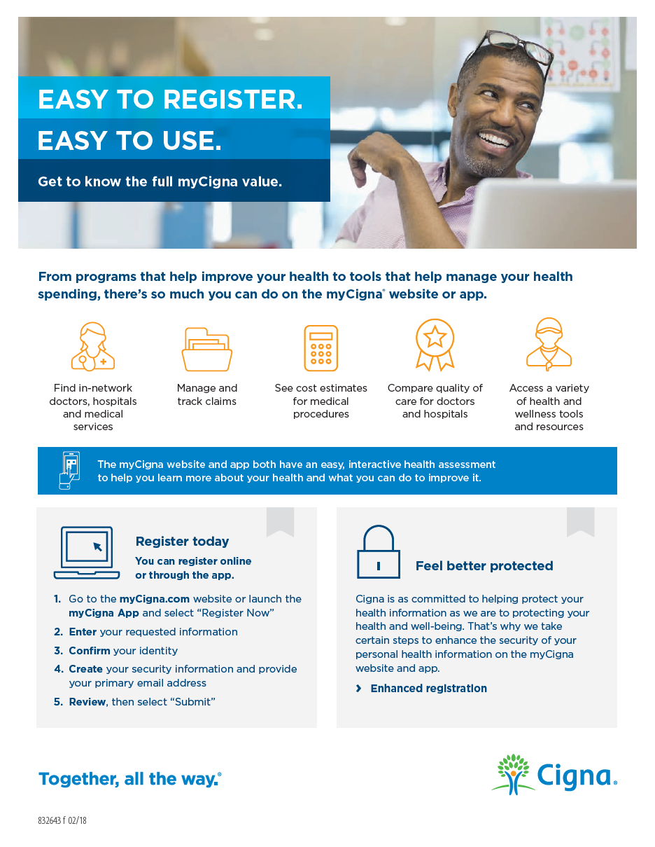 myCigna.com Registration with Fingerprint Access - pdf