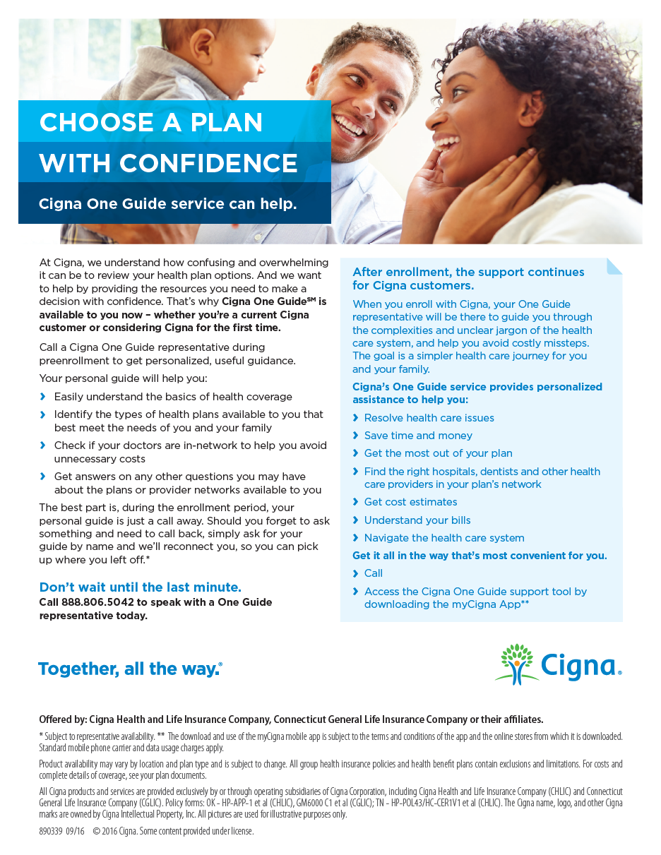 Cigna One Guide Pre-Enrollment guide - pdf