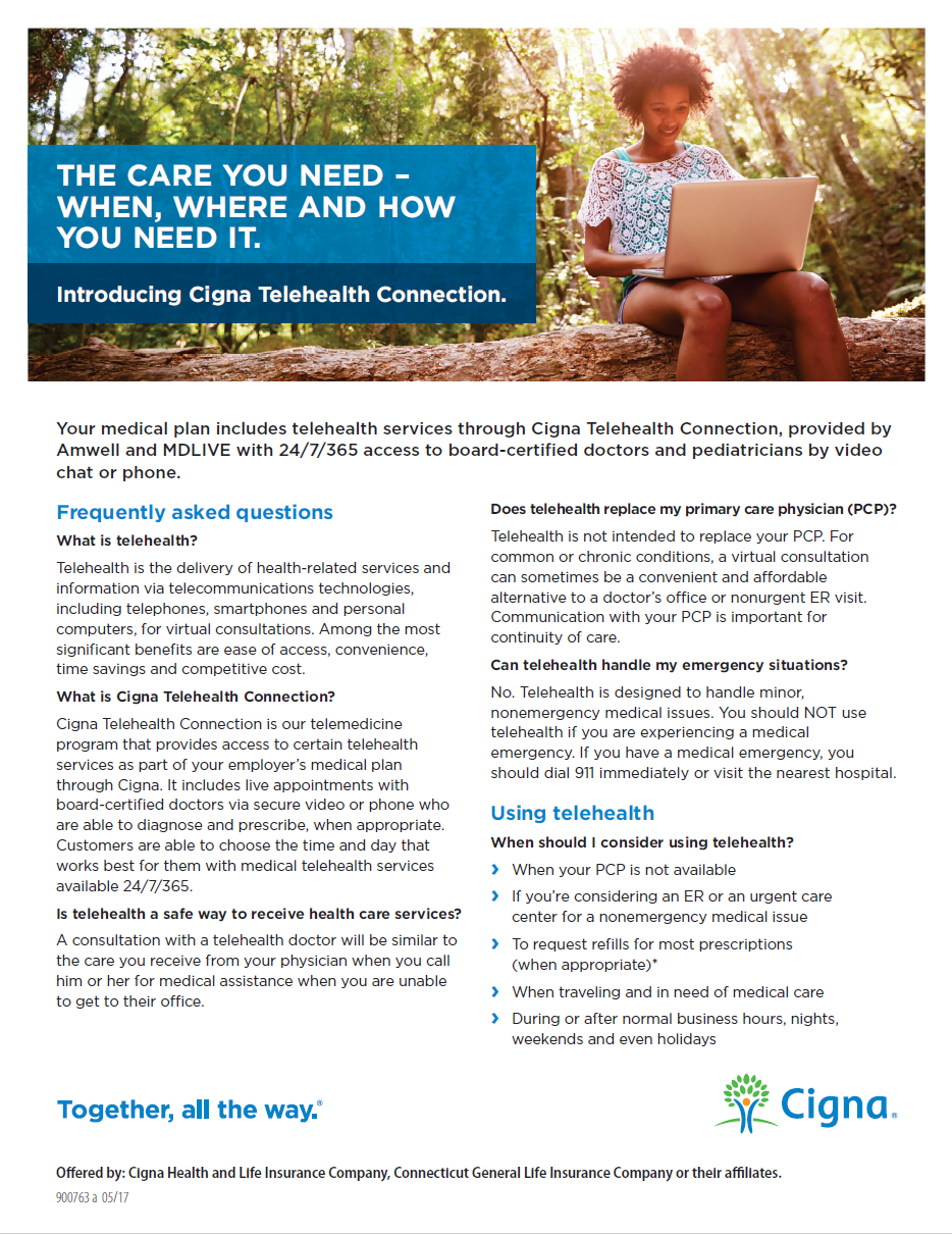 Cigna Telehealth FAQ - pdf