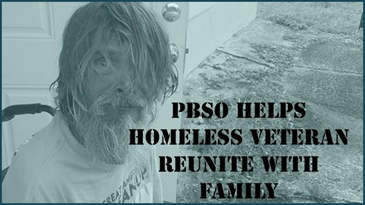 Video: PBSO Helps Homeless Veteran Reunite with Family