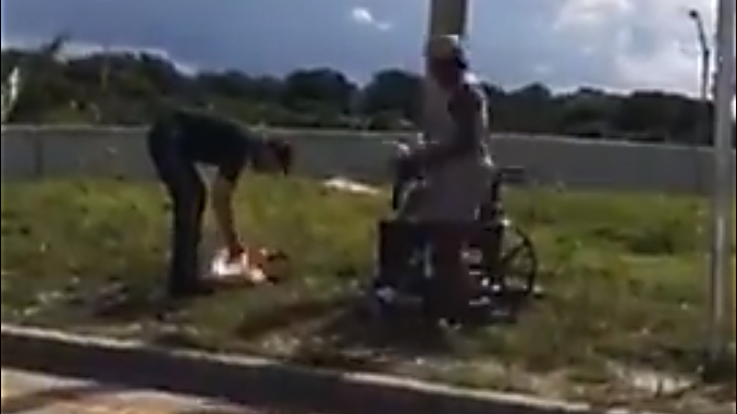 Deputy's kindness homeless couple