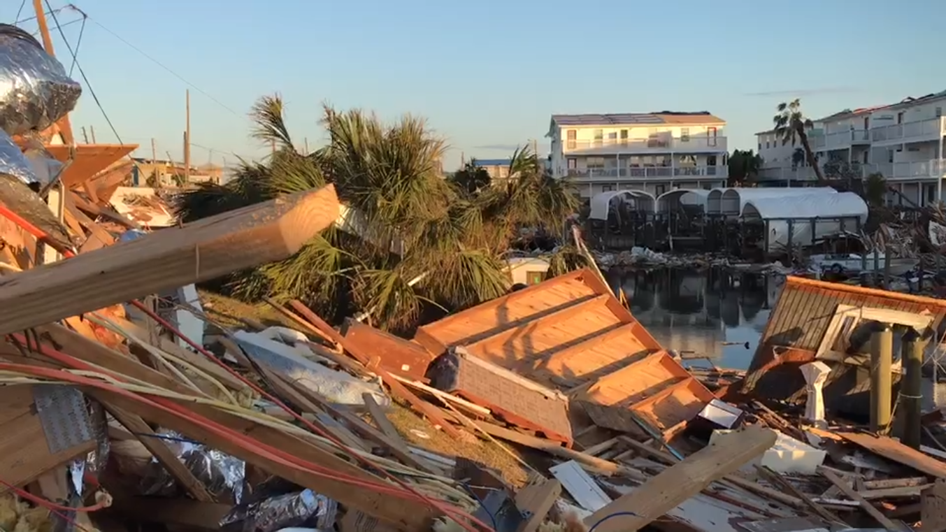 Hurricane Michael's devastation - First look