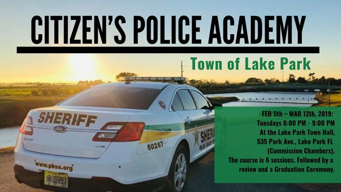 Citizen's Police Academy - Town of Lake Park