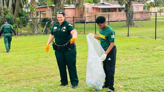 Kids & Deputies cleanup effort