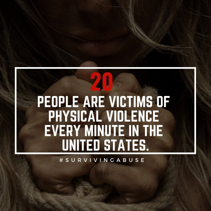 SurvivingAbuse - 20 people are victims of physical violence every minute in the U.S.