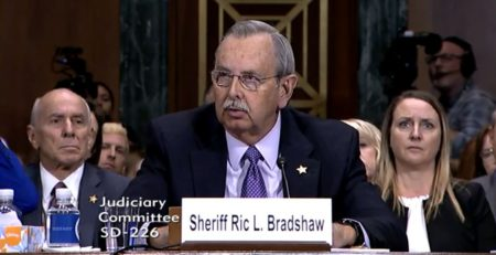 Sheriff Bradshaw speaks in front of the House Judiciary Committee