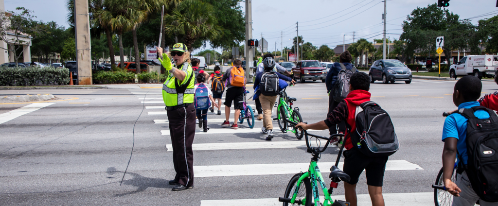 School Crossing Guard in action