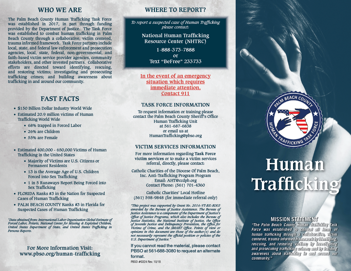 Click to open Human Trafficking Task Force PDF