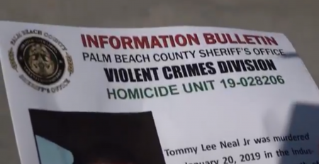 The Palm Beach County Sheriff's Office would like the public's help in solving a murder from earlier this year in Riviera Beach.