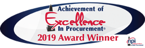 2019 Achievement of Excellence in Procurement Award