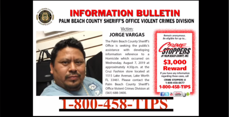 Jorge Vargas Murder - Seeking the Public's Help