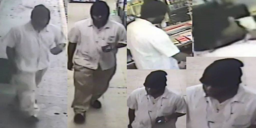 Suspect Wanted for Business Robbery at the Stop-N-Shop, Mangonia Park