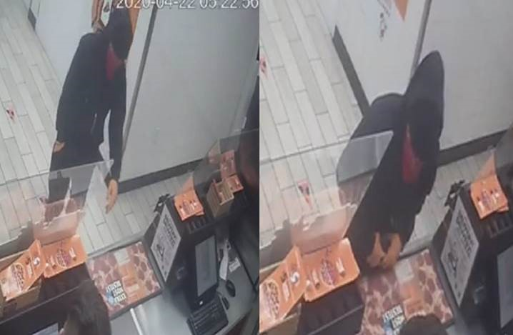 Suspect Wanted for Armed Robbery to TWO different Little Caesars Pizza restaurants with 15 minutes - MA20-37