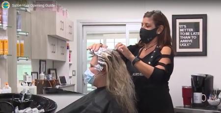 Video from PB County about Salons re-opening