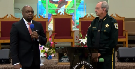 Sheriff Ric Bradshaw Speaks during Service
