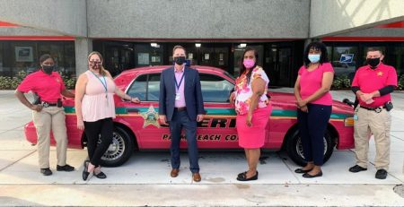 Pink Patrol Car at Library Today