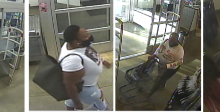 Suspect wanted for stealing clothing from a department store