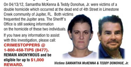 9th year anniversary of the Double Homicide of Samantha McKenna & Teddy Donohue